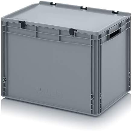 Transporte recipiente con tapa 60 x 40 x 43,5 cm Euro 88 litros ...