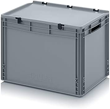 Transporte recipiente con tapa 60 x 40 x 43,5 cm Euro 88 litros Caja de transporte: Amazon.es: Hogar