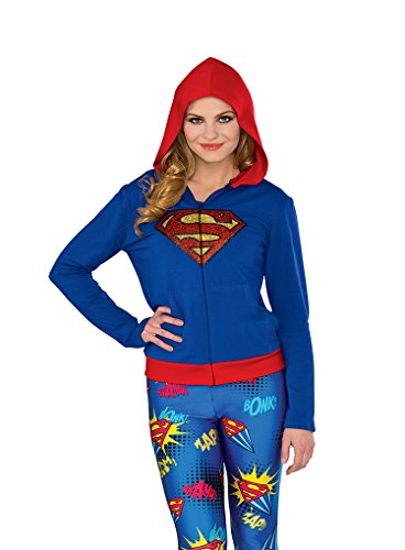Rubie's Costume Co Women's Hoodie, Supergirl, Small/Medium -