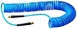 Amflo 24-50E-RET Blue 120 PSI Polyurethane Recoil Air Hose 1/4\