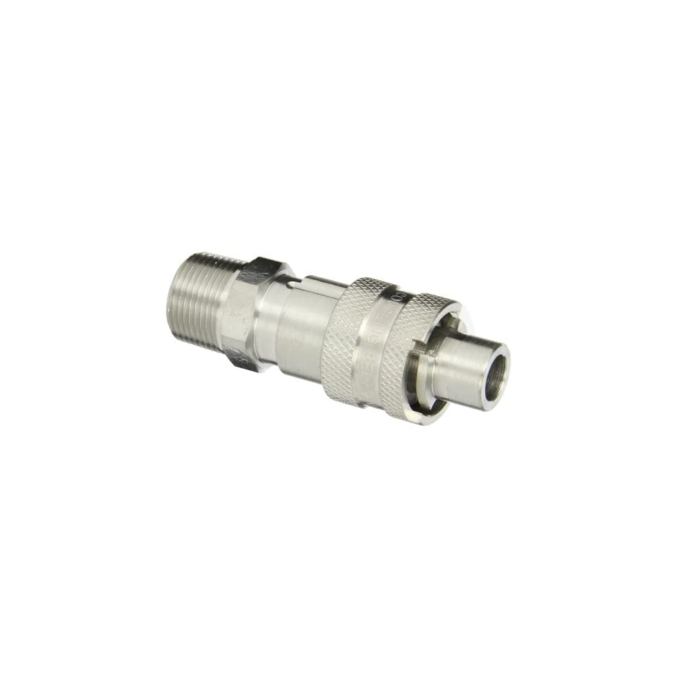 Dixon Valve QSS43 Stainless Steel 303 Dix Lock Air Fitting, Quick Acting Coupler, 1/2 Male Head x 1/2 NPT Male End