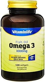 Omega 3 1000mg - 120 Cápsulas, VitaminLife