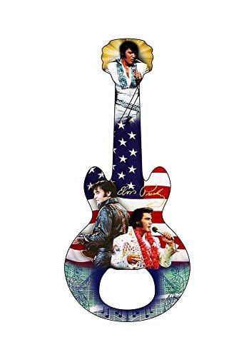 Elvis Presley Bottle Opener Magnet Collage with Flag
