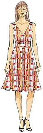 Vogue Patterns pour h/élicopt/ère A5 Tailles 6//8//10//12//14 Patrons de robes pour femme Multicolore