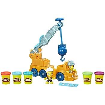 Amazon Com Play Doh Town Power Crane Toys Amp Games