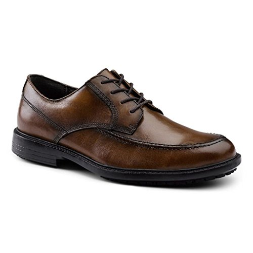 Dockers SureGrip Mens Authority Tan Moc Toe Oxford Shoes 7.5M ()