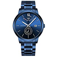 NIBOSI Mens Analogue Quartz Watch with Stainess Steel Strap...