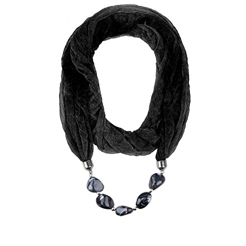 Valentine's Day Gift LERDU Ladies Gift Idea Versatile Unique Infinity Scarf Necklace for (0.25 Lb Head)