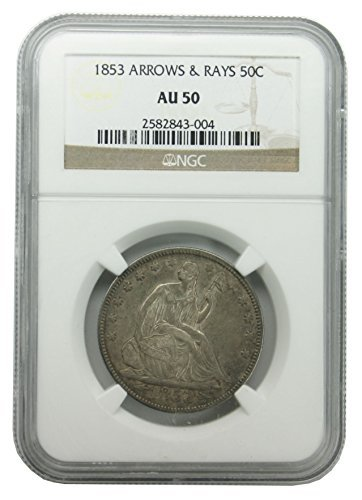 1853 Seated Liberty Half Dollar AU-50 NGC