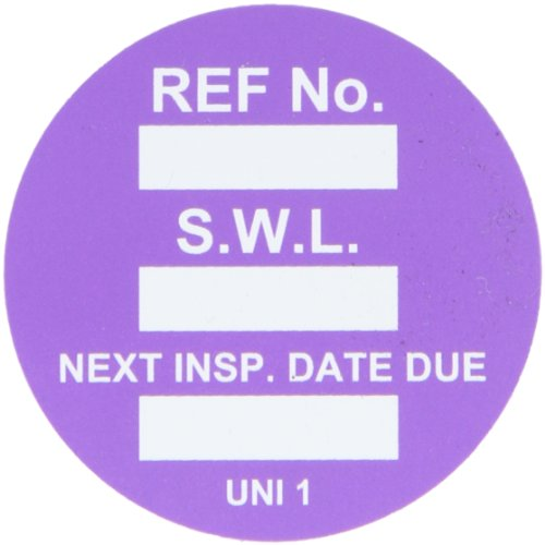 Brady  UNI-UNI PURPLE, Purple Universal Tag INSERTS SAFE WORK LOAD 100/Package PUR (100 Tags) by Brady (Image #1)
