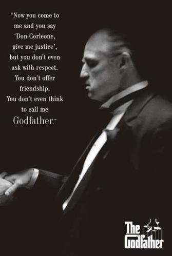 The Godfather Movie  Poster Print