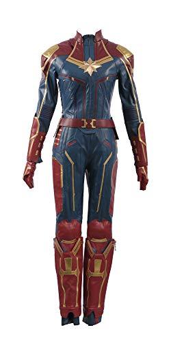 Ms Marvel Costume - Captain Marvel Carol Danvers Superhero Cosplay