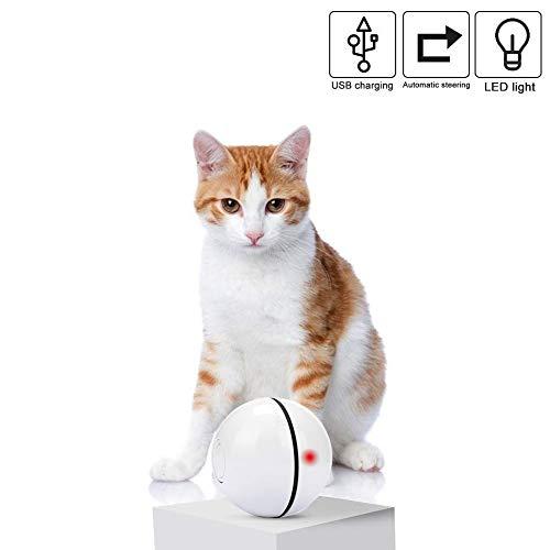 Homealexa Katzenspielzeug Elektrisch Katzenball interaktives Spielzeug für Katzen, Automatischer Rollender Ball mit LED…