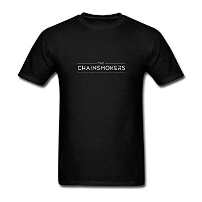 FENGTING Men's The Chainsmokers DJ Group Logo Short Sleeves T-Shirt