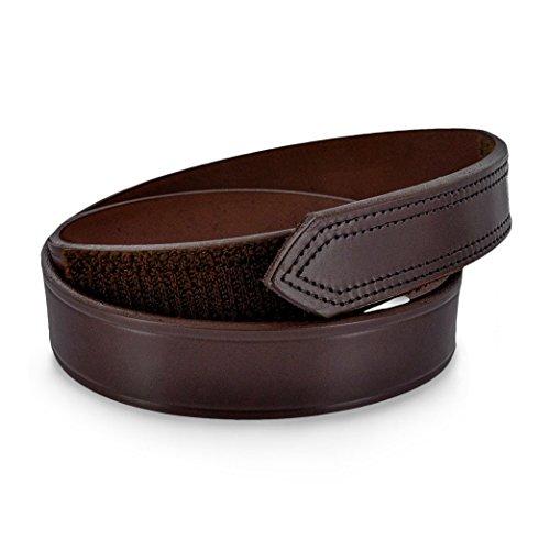 No Scratch Buckle Belt (Hanks Scratchless Mechanics Hook and Loop Closure Belt - Brown - Size 52)