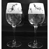 Lizard gift wine glasses