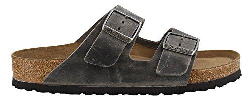 Birkenstock Women's Arizona Soft Footbed Oiled Leather Iron Sandals
