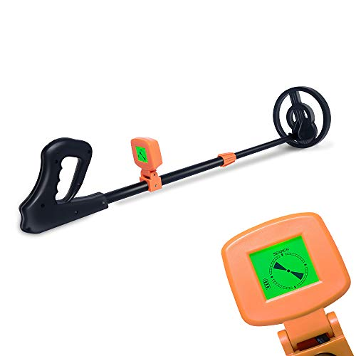 AMYSPORTS Kids Metal Detector Lightweight Adjustable Stem Best Metal Detectors for Kids Treasure Hunter for Children Beach Detecting (Metal Children Detector)