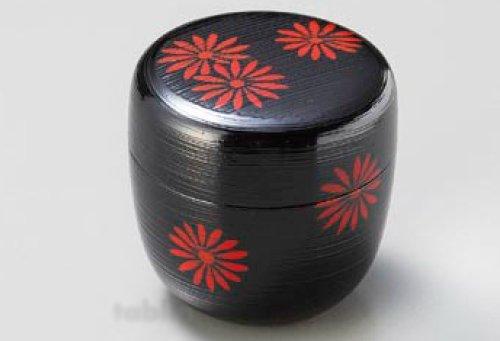 Tea Caddy Japanese Natsume Echizen Urushi Lacquer Matcha Container Hakeme Chrysa by Echizen Urushi
