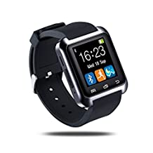 Generic U80 Bluetooth 4.0 Smart Watch Phone with Comfortable Watch Strap for Smartphones IOS Android Apple iphone 5/5C/5S/6/6 Puls Android Samsung S3/S4/S5 Note 2/Note 3 Note 4 HTC Sony ( Black)