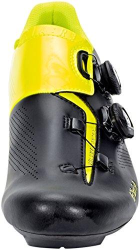 Fizik R3aria scarpe da ciclismo, nero/giallo fluo Black/Yellow Fluo