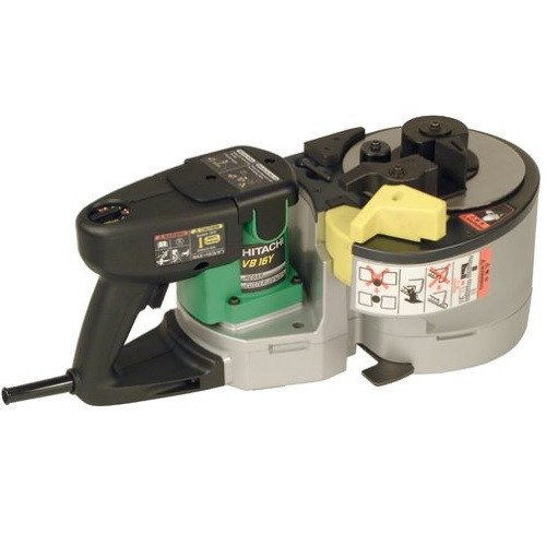Hitachi VB16Y Portable Variable Speed Rebar Cutter Bender, Up to Number 5 (3/8 inch, 1/2 inch, 5/8 inch) Grade 60 Rebar, 3.1 Second Cut, 8.0 Amp