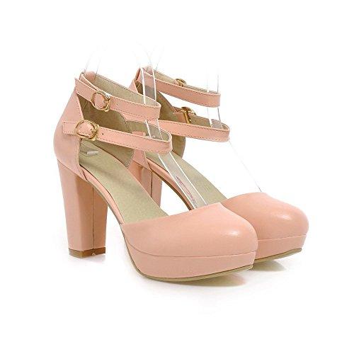 Balamasa Flickor Dubbla Knäppt Kick-häl Mjuk Material Pumpar-shoes Rosa