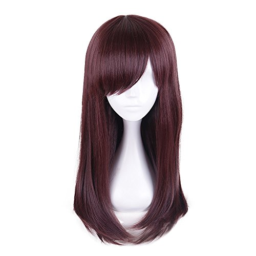 Mukola D.VA Cosplay Wig OW Hana Song Costume for Girls (One Size, Wig)