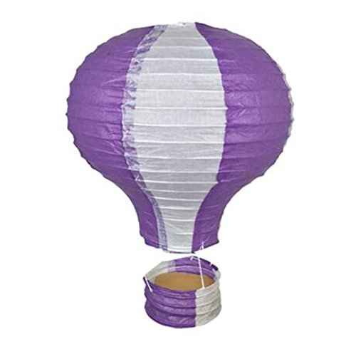 Birthday Party/Christmas/Easter/Mall Decoration Hanging Paper Lantern Hot Air Balloon 25cm(Purple)