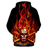 NIUQI Mens Casual Scary Halloween Lover 3D Print
