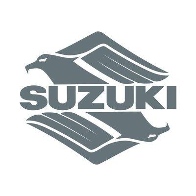 10 centimetri. Suzuki replica logo sticker decal adesivo prespaziato senza fondo in vinile colore blu lucido