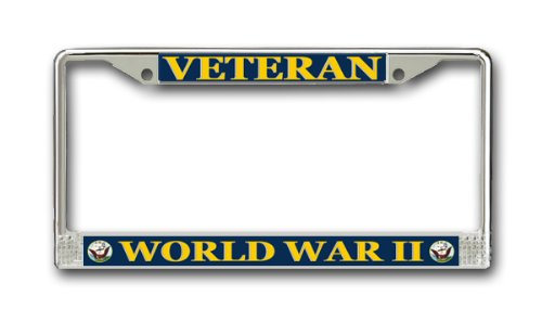 US Navy World War Two Veteran License Plate Frame (License Plate Picture Frame compare prices)