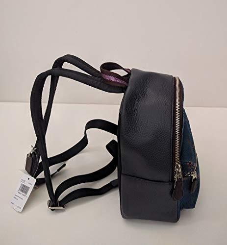 Purse COACH Mini DENIM SVM64 Denim Print Charlie Cherry Backpack F31484 MULTI ArZ7Apqw