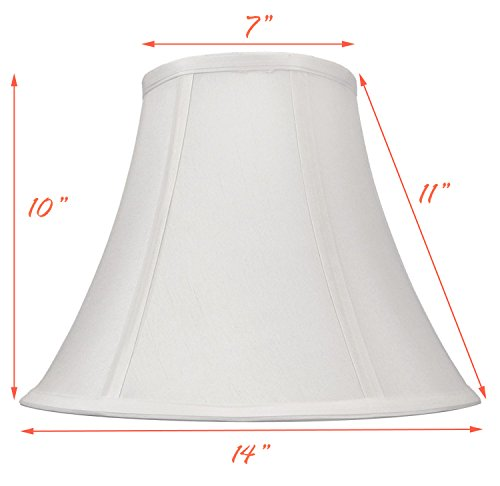 "White Bell Hand Made Fabric Lampshade, 7"" x 14"" x 11"", (Spider) (Pack of 1)"