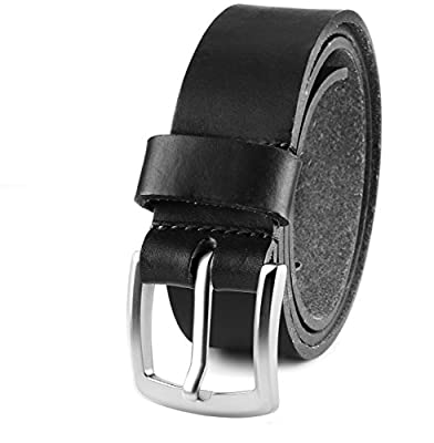 """Men's Casual Full Grain Classic Leather Dress Belt For Jeans,1.5"""" Wide, USA,"""