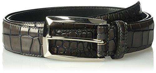 Stacy Adams Men's Ozzie Croc Embossed Belt, gray, 40 (Stacy Adams Embossed Belt)