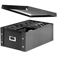 Media Storage Box, Holds 120 Slim/60 Std. Cases, Sold as 1 Each, 5PACK , Total 5 Each