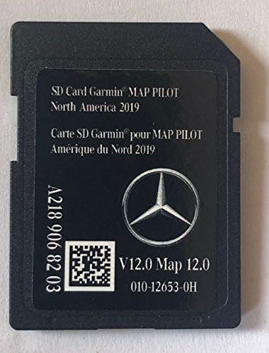 Latest 2019-2020 Navigation SD Card 2020 2019 2018 Version v12 A2189068203 for Mercedes B C CLA CLS GLA GLC SLC Chip Map with Anti Fog Car Rearview Mirror Film and Key Chain (Best In Dash Navigation 2019)