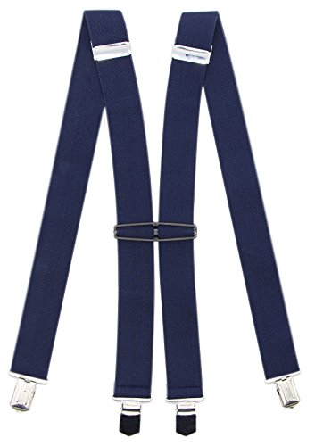 Suspenders For Men With 4 Clips: 11 Colors For Formal And Casual Occasions (Navy)