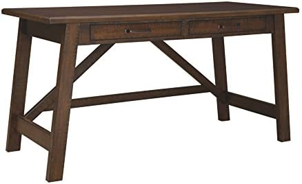 Signature Design by Ashley Baldridge Home Office Large Leg Desk Rustic Brown