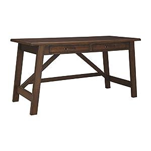 Signature Design by Ashley Baldridge Home Office Large Leg Desk Rustic Brown