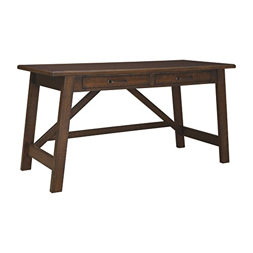 Signature Design by Ashley Ashley Furniture Signature Design-Baldridge Wide Large Leg Desk, Rustic - Designs Antique Furniture