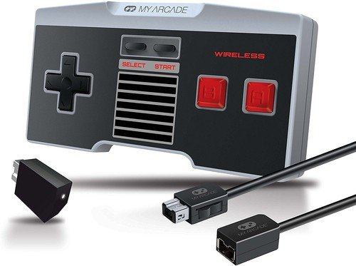 My Arcade GamePad Combo Kit - Wireless Controller + 10 Foot Extension Cable for the NES Classic Edition  System