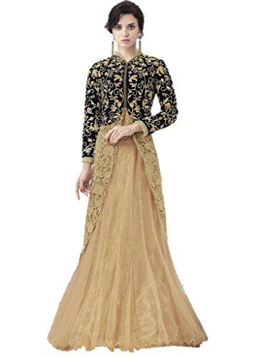 EthnicWear Bridal Reception Wear Pakistani Woman Designer Beige Lehenga (Pakistani Bridal Lehenga)