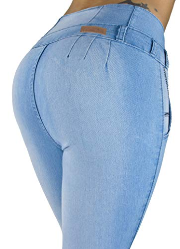 Colombian Design, High Waist, Butt Lift, Levanta Cola, Skinny Jeans in Light Blue Size 9 (Best Jeans For No Butt)