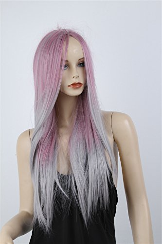 ATOZWIG New Women Heat Resistant Wig Sexy Fashion Long Straight Hair Full Wig Lolita Ombre Cosplay (Sexy Wig)