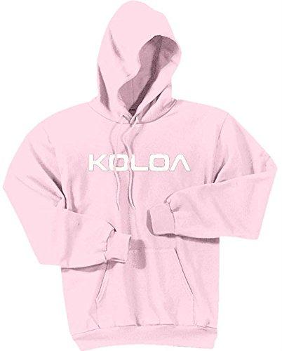 (Joe's USA Koloa Text Logo Hoodies-Hooded Sweatshirt-Pale.Pink-L)