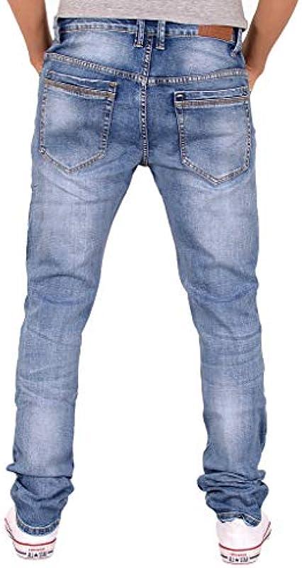 ESRA męskie dżinsy spodnie Slim Fit dżinsy stretch dżinsy Basic dżinsy A409: Odzież