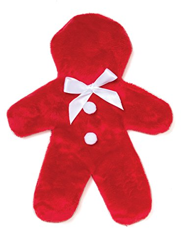 West Paw Design GINGER Unstuffed Squeaky Toy - Red - 9.5''