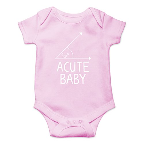 AW Fashions Acute Baby - Math Lovers Nerd Cute Novelty Funny Infant One-Piece Baby Bodysuit (Newborn, Pink)